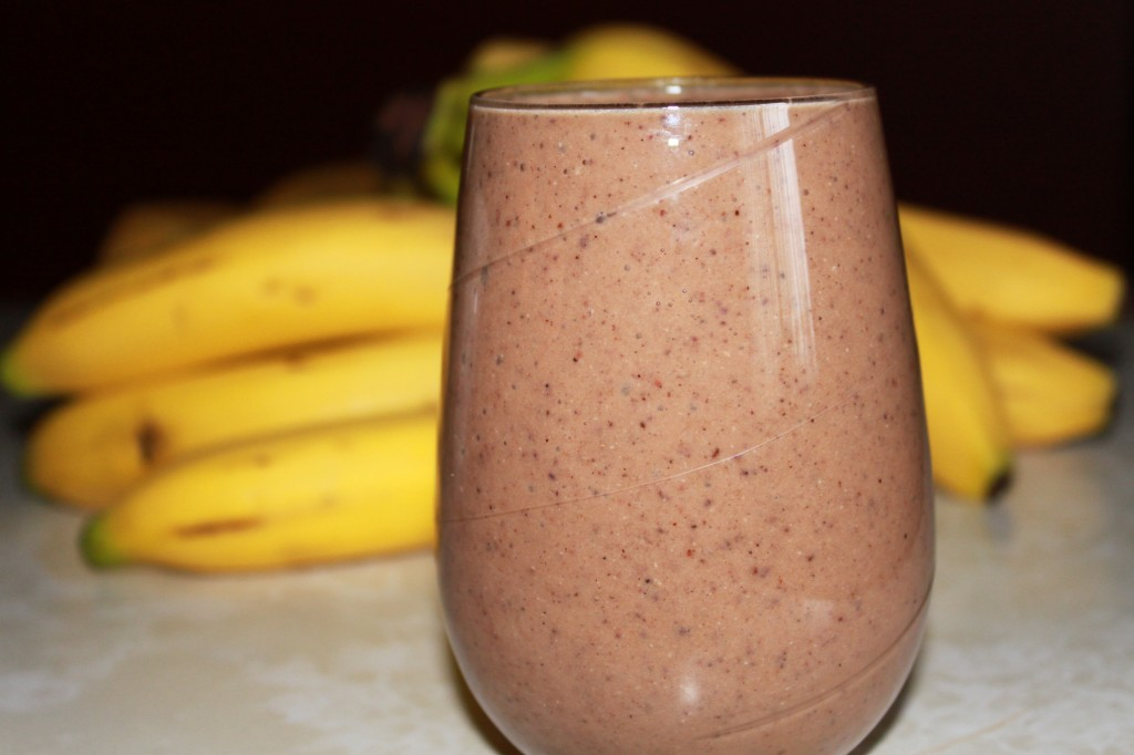 chocolate and kale smoothie